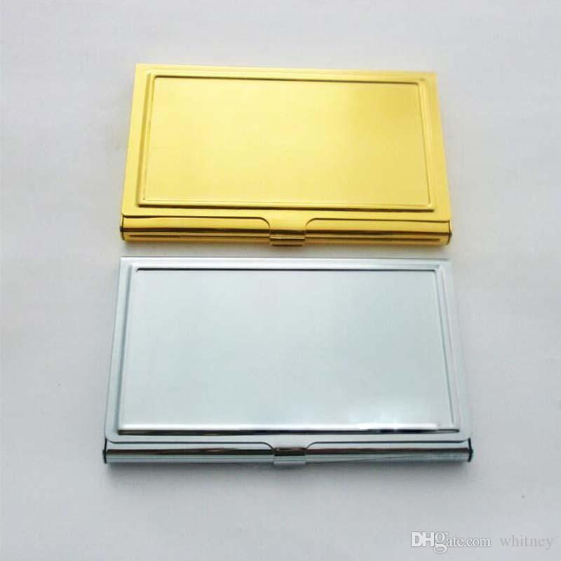 2018 Blank Business Name Credit Id Card Holder Box Metal Stainless ...
