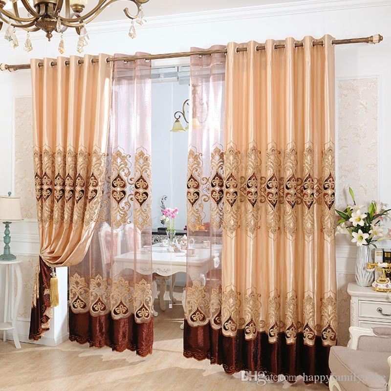 2018 Luxury Curtains Blackout Drapes Living Room Drapes Bedroom Window  Treatments Curtain And Blinds 42w/50w/72w 4 Panels From Happyfamilyalike,  ...
