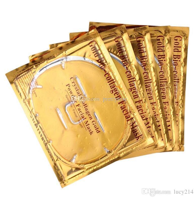 저렴한 도매 골드 바이오 콜라겐 페이셜 마스크 페이스 마스크 크리스탈 골드 파우더 콜라겐 페이셜 마스크 모이스쳐 라이징 안티 에이징 24k 골드 마스크