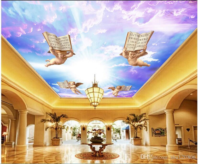 3d Ceiling Murals Wallpaper Custom Mural Angel Colorful Sky 3d Wall Murals  Wallpaper For Living Room Wall Papers Home Decor Painting Freewallpapers  Full Hd ... Part 83