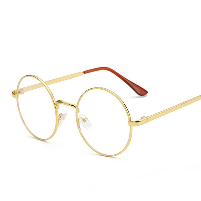 eaa434fe13 Wholesale- Vintage Spectacle Frames Lentes Opticos Hombre Clear Gold ...