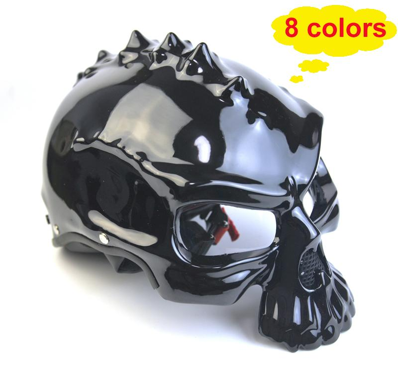 Masei14 color 489 Personalized Dual Use Skull Motorcycle Bicycle Helmet Casco Novelty Retro Casque Motorbike Bike Half Open Face Helmet