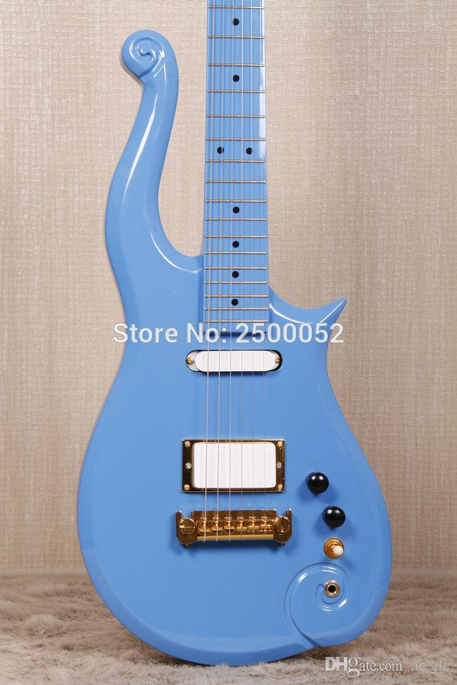 Rare Electric Guitar Prince Pink Light Blue Cloud Gold Hardware Multi Color Available Instock For Sale Hollow