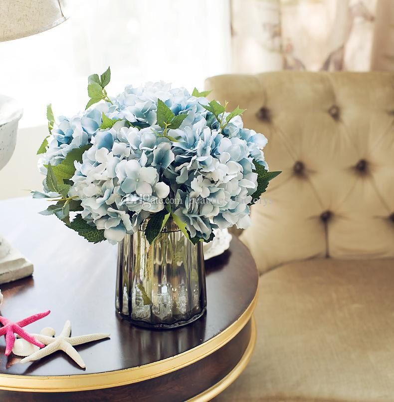 Künstliche Hortensie Seidenblume 18 cm Hortensien Blume Hausgarten Dekor Party Gefälschte Blumen Hochzeit Dekorationen neu