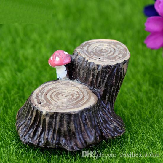 2017 Cute Tree Stump Micro Landscape Stakes Seat Garden Decoration Resin  Miniatures For Mini Garden Diy Plant Ornaments From Daxihexiaohai, $2.03 |  Dhgate.