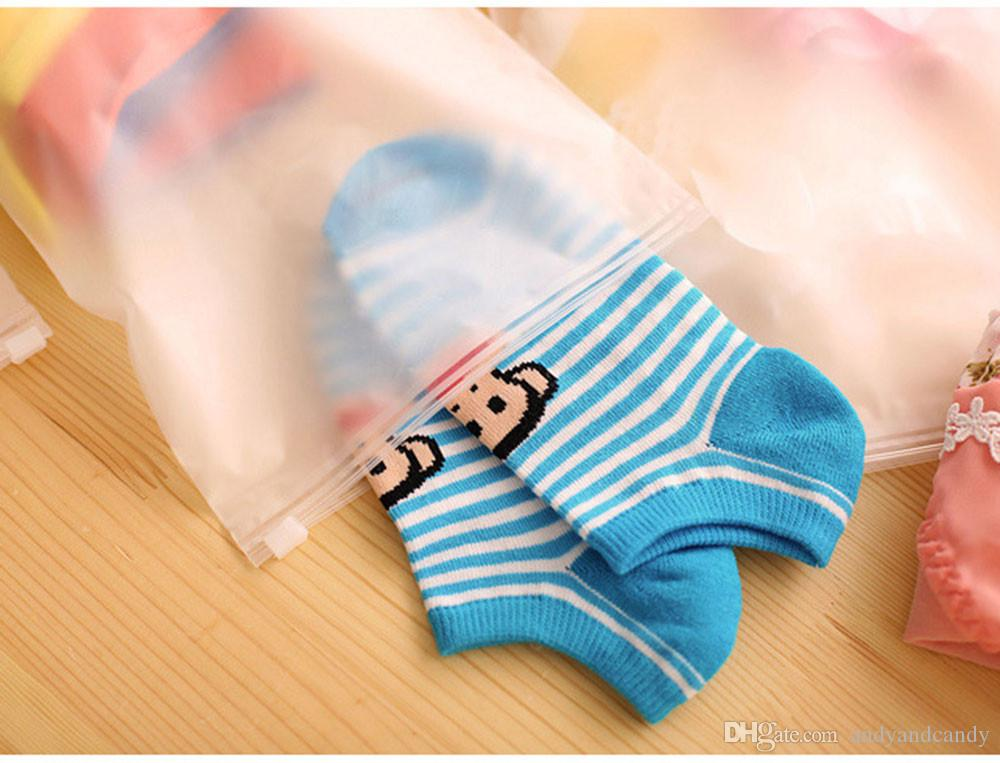 /sets Matte Transparent Storage Bag Waterproof Travel Plastic Bag Slide Seal Packing Pouch With Zipper For Clothes Underwear Cosmetics
