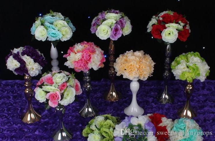 Ücretsiz Kargo 30 cm Yükseklik Metal Mumluk Standı Düğün Centerpiece Olay Yol Kurşun Çiçek Raf / masa Cente