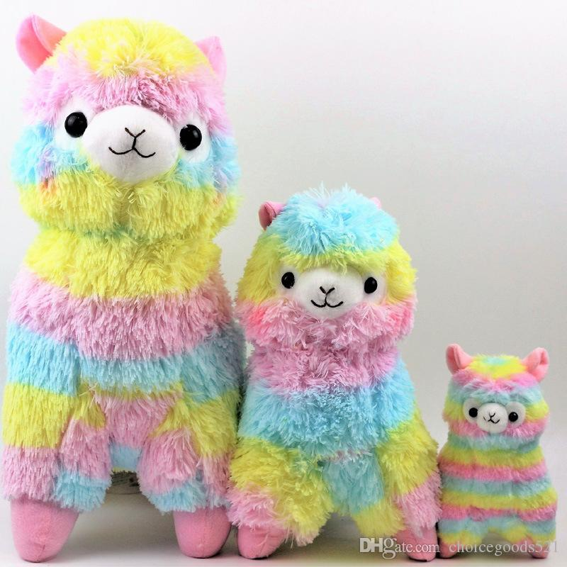 Cute Rainbow Alpacasso Kawaii Alpaca Llama Arpakasso Soft Plush Toy Doll Gift 3 Sizes 10 P