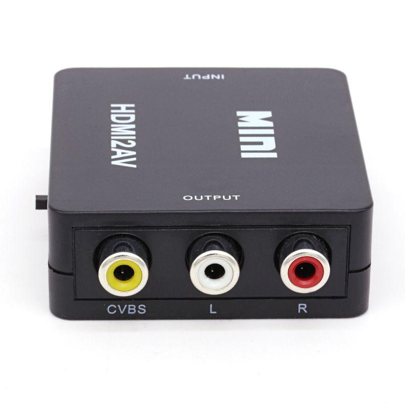 HDMI2AV 1080P Adaptador de video HD HDMI a AV Converter CVBS + L / R HDMI a RCA /
