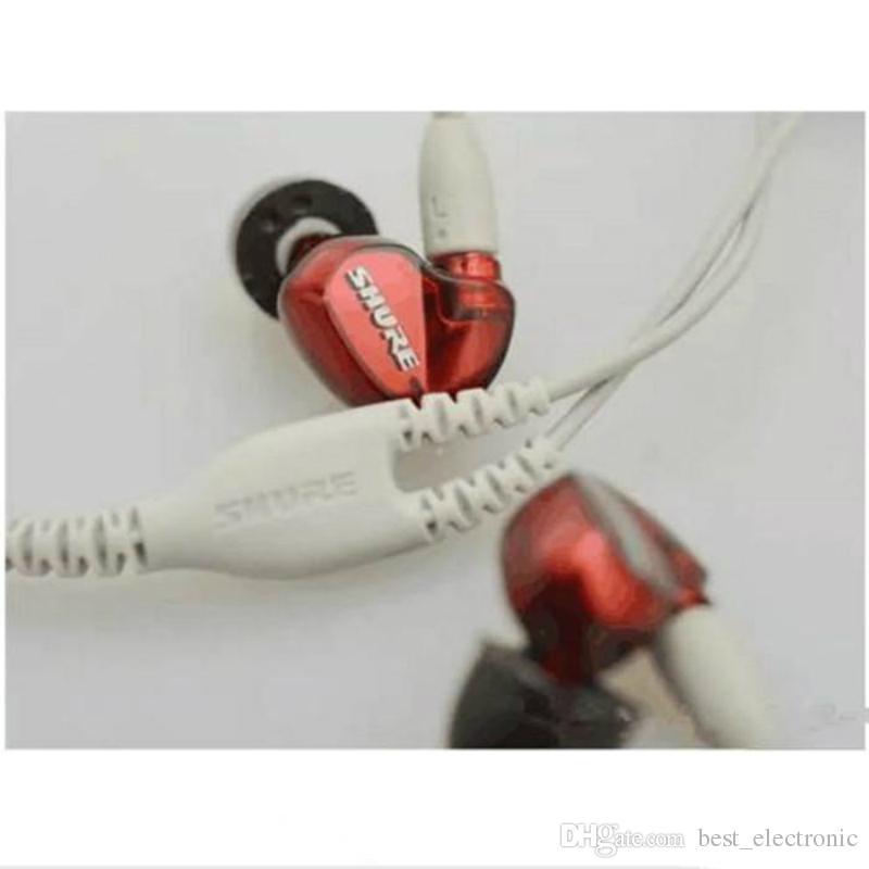 Professionelle SE535 Dynamische HIFI Bass Noise Cancelling Kopfhörer Headset In-Ear Kopfhörer Laufende Ohrhörer mit 3,5 mm Klinke für SmartPhones