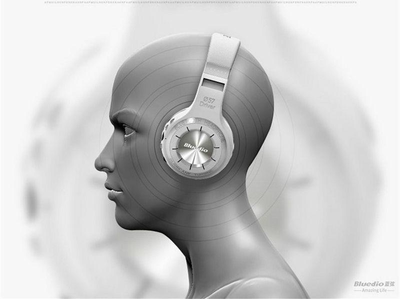원래 Bluedio HT 무선 블루투스 4.1 스테레오 헤드폰 스튜디오 헤드셋 내장 마이크 핸즈프리 통화 및 음악 스트리밍