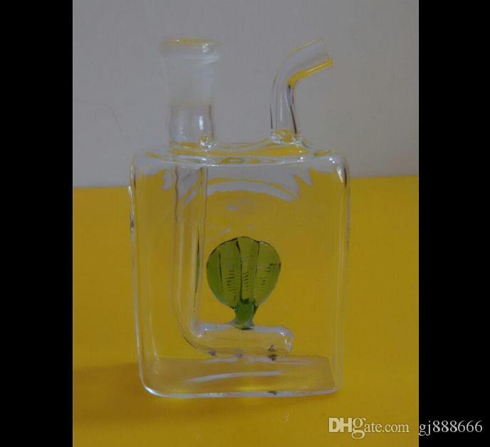 Plano bouquet medusas vidro bongs acessórios, vidro cachimbos coloridos mini-multi-cores Pipes mão Glas Melhor colher