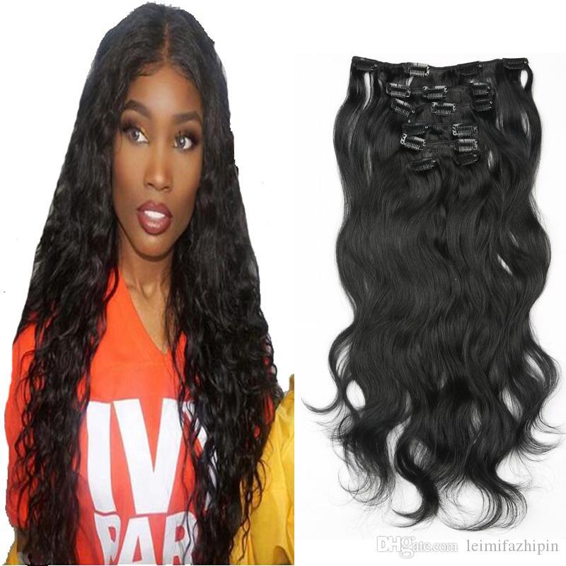Resika Hot Selling Brazilian Virgin Clip In Human Hair Extensions