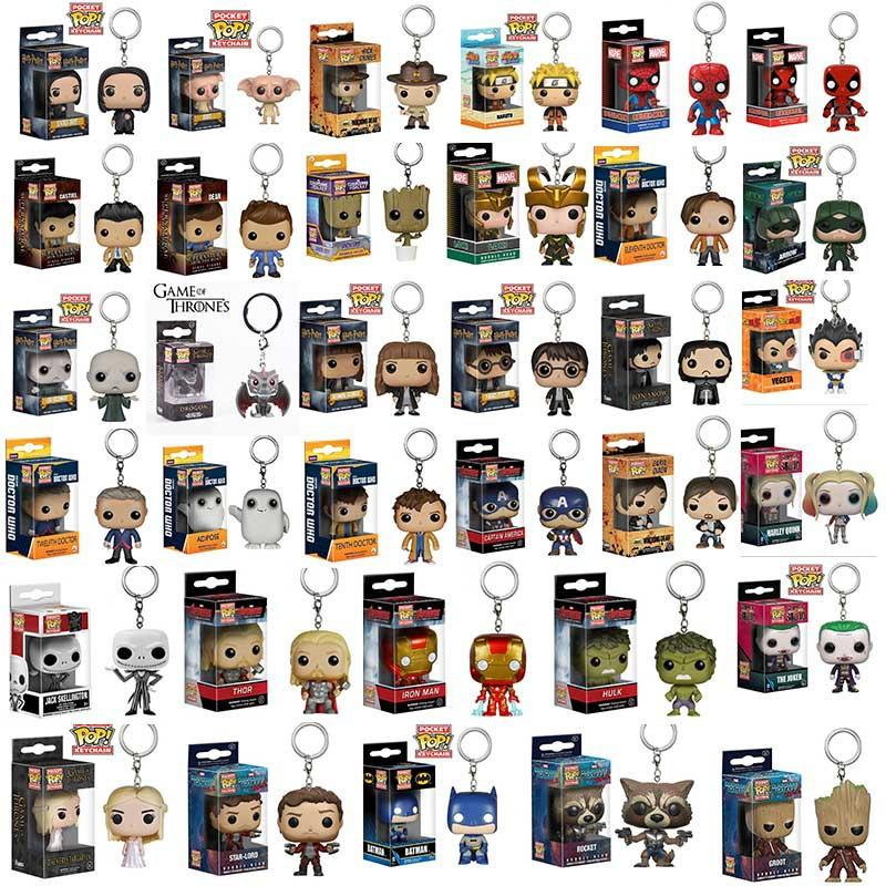 8aee6ffbcc2c 2019 Funko Pop Action Figure Gxhmy Marvel Super Hero Harley Quinn Deadpool  Goku Spiderman Joker Game Of Thrones Figurines Toy Keychain From  Formaldress