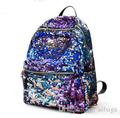 976c90296549 Hot Sale Women Sequins Rainbow Backpack Large Capacity Shiny School Backpack  Newest Fashion Teenager Casual Backpack Camping Bag Womens Backpacks Pink  ...