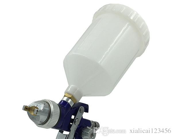 Original Pressure tank chrome paint gun for car spray guns for auto painting air hvlp spray paint gun