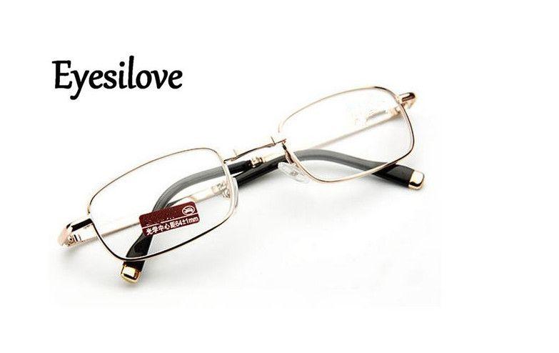 Розничные складные очки для чтения для женщин металлические мини-очки для чтения высокого качества идут с корпусом