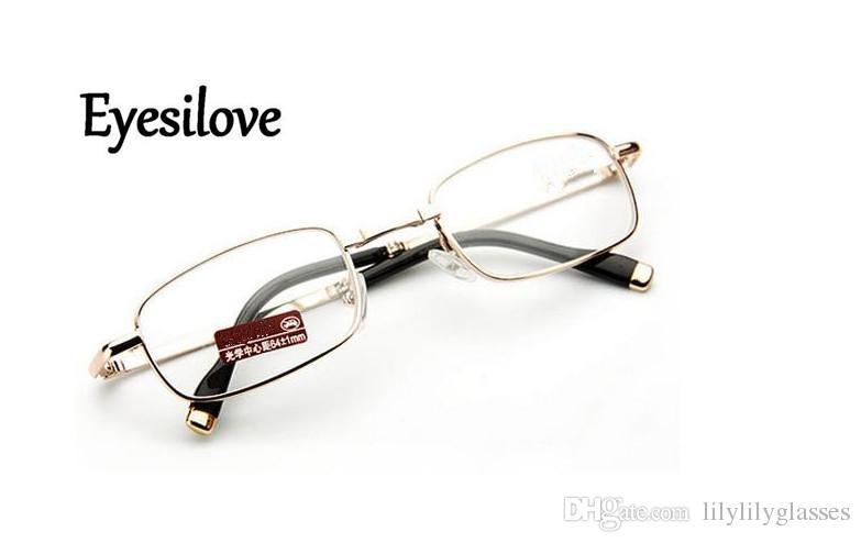 Las gafas de lectura plegables al por menor para las mujeres mini gafas de lectura de metal de alta calidad van con la caja