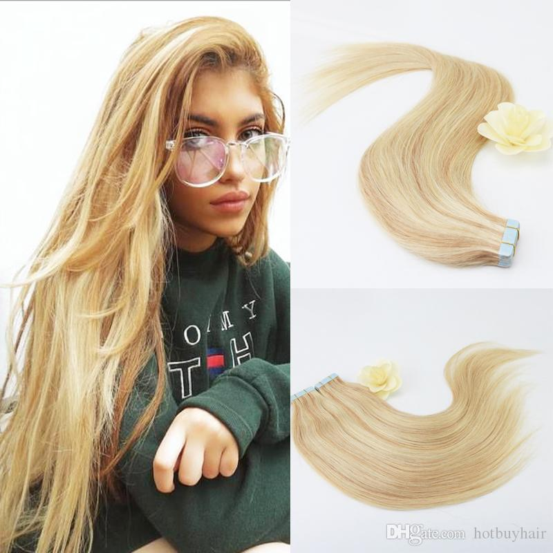 100 Skilly Straight Unprocessed Virgin Remy Human Hair Ombre Blonde
