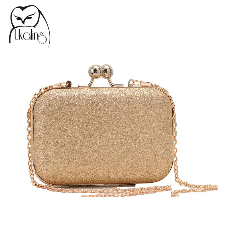 Wholesale Small Gold Box Bag Women Clutch