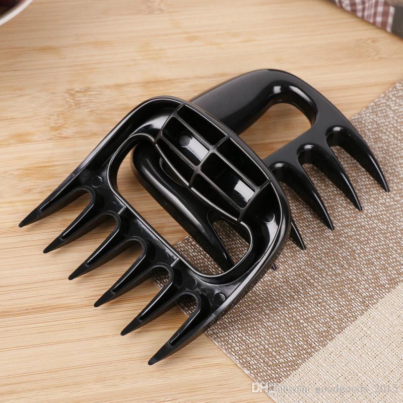 2 Adet / takım Ev Mutfak Siyahlar Et Pençeleri Parçalayıcı Tavuk Ayırıcı Kolay Temiz Kullanım Mutfak BARBEKÜ Barbekü Pişirme Araçları Ayı Pençeleri X024-1