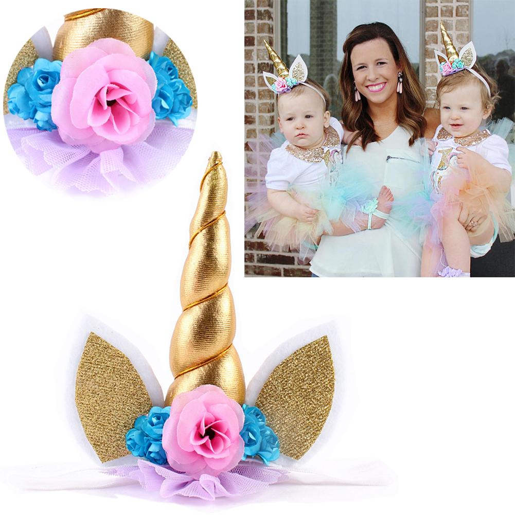 Handmade Floral Glitter Unicorn Horn Headband Party Costume Ears For Baby Kids Photo Props Hair Accessories Infant Hair Accessories Floral Hair Accessories ...  sc 1 st  DHgate.com & Handmade Floral Glitter Unicorn Horn Headband Party Costume Ears For ...