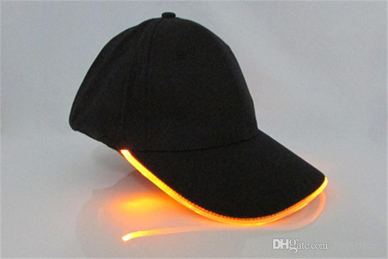 Bagliore adulto nel buio Cappelli con cappuccio leggero da donna Cappello da baseball luminoso da uomo Moda Cappello sportivo da uomo Hip Hop all'ingrosso Regalo di Natale nuovo