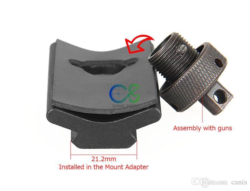 Paintball Tüfek Avcılık Çekim Bipod Weaver Raylı Döner Saplama Picatinny Yuvası Adaptörü 21.2mm Bipod Adaptörü Dağı CL33-0209