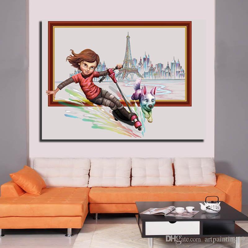 Compre Los Niños De Dibujos Animados Se Imprimen Spray Pintura ...
