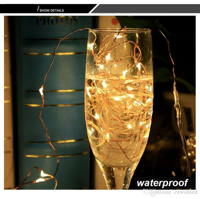 copper string wire 5M 50led 10M 100LEDS copper fairy xmas party holiday decoration USB 5V operated IP66 waterproof led string