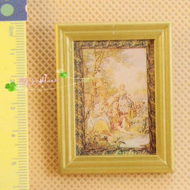 1:12 Dollhouse Mural Art Wall Painting Miniature Decor Accessories