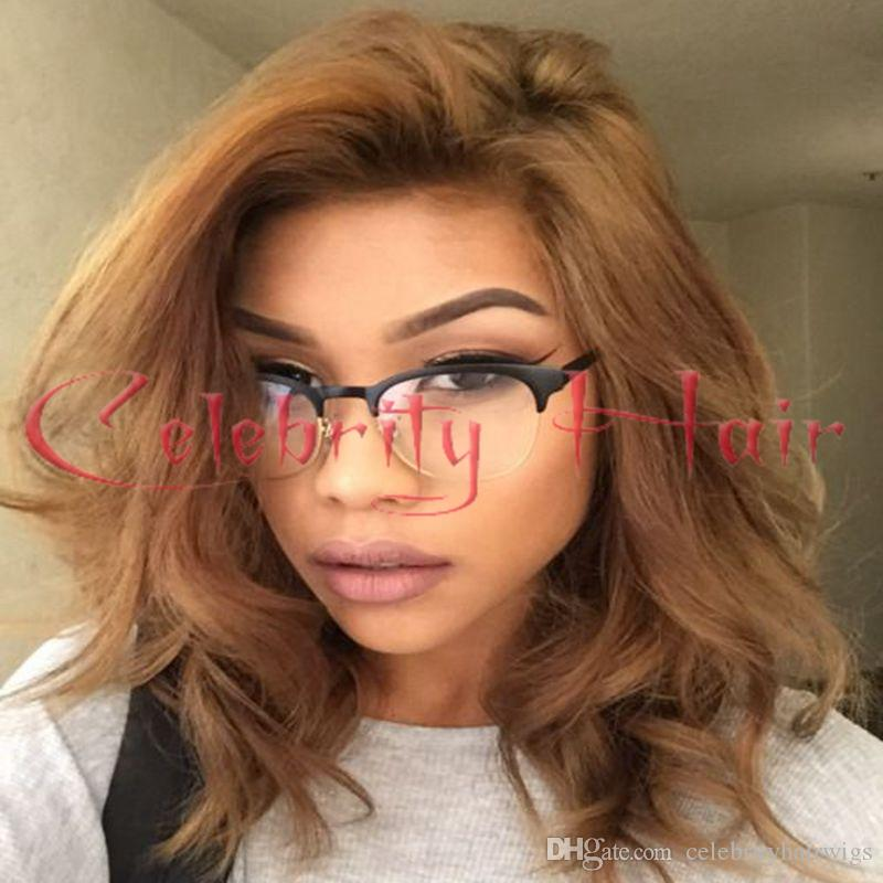 Picture Light Browb Short Wavy Hair Free Part 12 26 Swiss