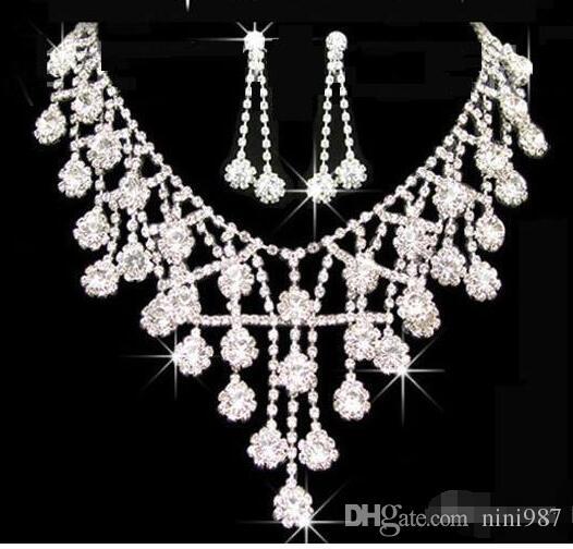 Diademi oro Diademi corone matrimonio gioielli capelli neceklace orecchino economici all'ingrosso moda ragazze sera abiti da ballo di promenade accessori