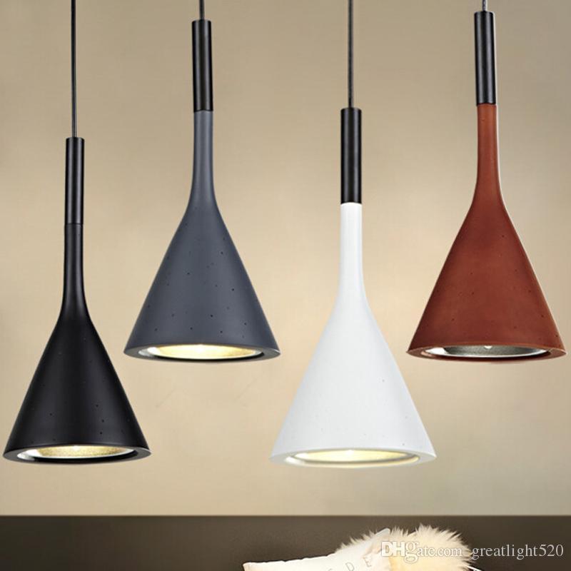 Endüstriyel imitasyon çimento yaratıcı Reçine Droplight Bar Kolye Işık sanayi kolye ışık tavan ışık avize # 32 Retro