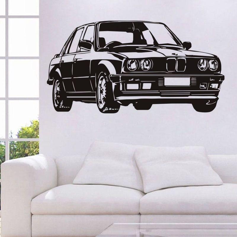 Ücretsiz Nakliye: Orta Ölçekli 3D DIY Traktör Araba Kamyon Araç Desen PVC Çıkartmaları / Yapıştırıcı Aile Duvar Çıkartmaları Spor Mural Art Ev Dekor