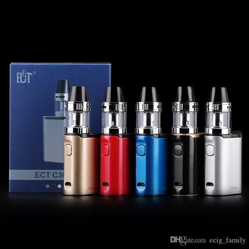 Hot selling tinner e cig start kit ECT C30 mini vape pen kit with 30W TC box mod 2ml met atomizer 1200mah battery