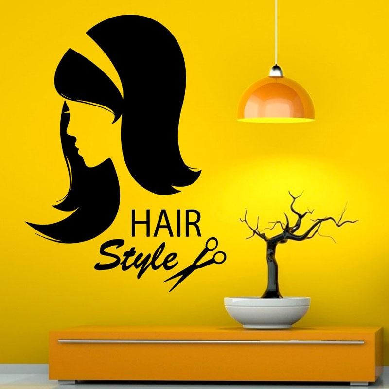 Hairstyle Beauty Salon Wall Art Stickers Home Decor Waterproof ...