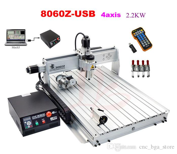 Axis Usb Port Cnc Router Machine  2kw Spindle 8060z Cnc Milling Machine 2200w For Metals From Cnc_bga_store 2864 33 Dhgate Com