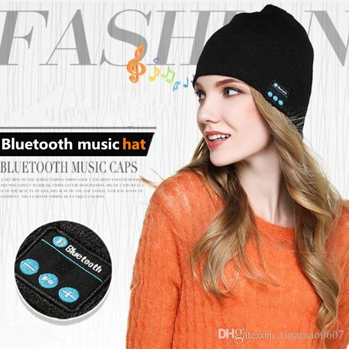 Bluetooth Music Hats Soft Warm Winter Beanie Cap Stereo Speaker Wireless Headphone Headset Microphone Handsfree Music Hat OPP Bag