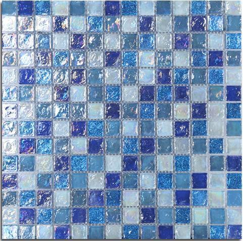 Acquista mattonelle di vetro di vetro della parete del mosaico della glassa colorata - Mosaico vetro bagno ...