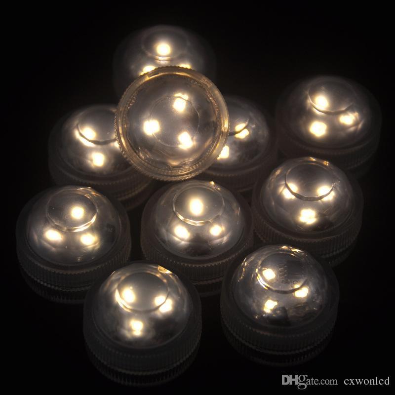 Decoração de Natal eletrônico RGB Candle Light Romântico Waterproof LED submersível Velinha para Wedding Party Luz Floral Valentine