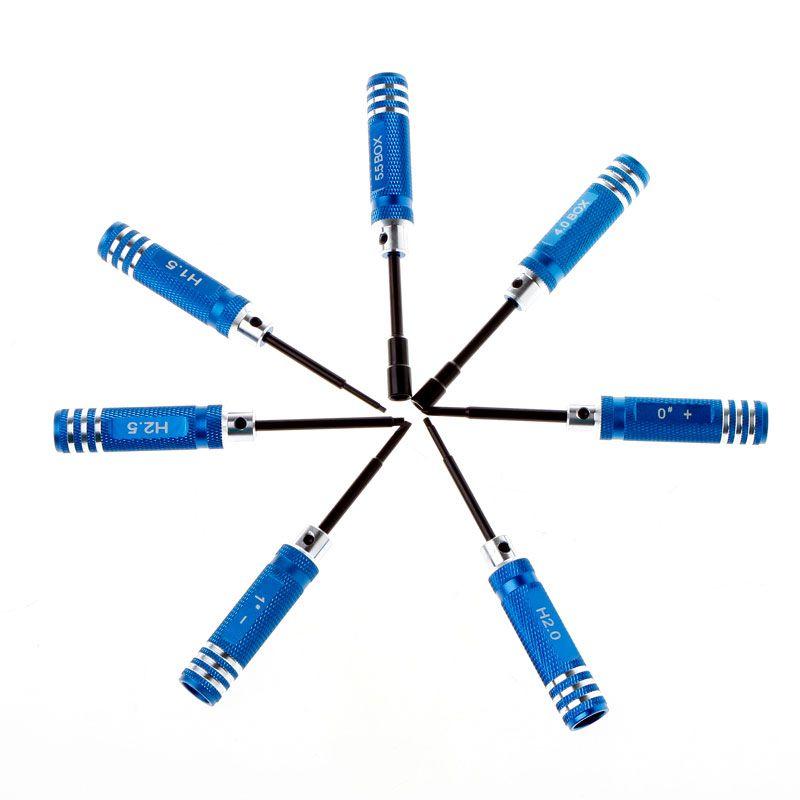 Heißer verkauf 7 stücke Hex Schraubendreher Werkzeug Kits für RC Auto Hubschrauber Drone Ersatzteile werkzeuge