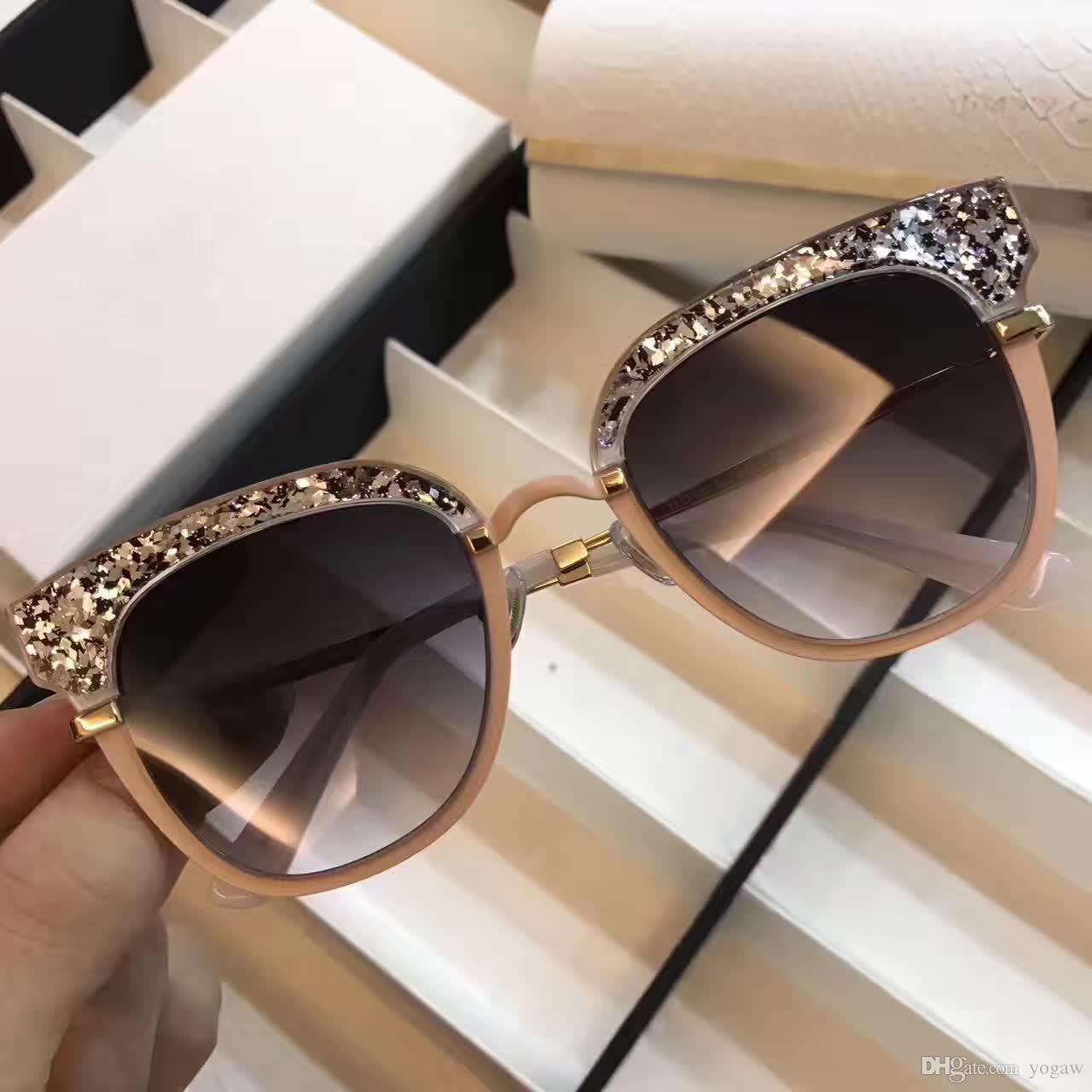 Großhandel Lady Square Mote / S Pink Glitter Sonnenbrille Dunkelgrau ...