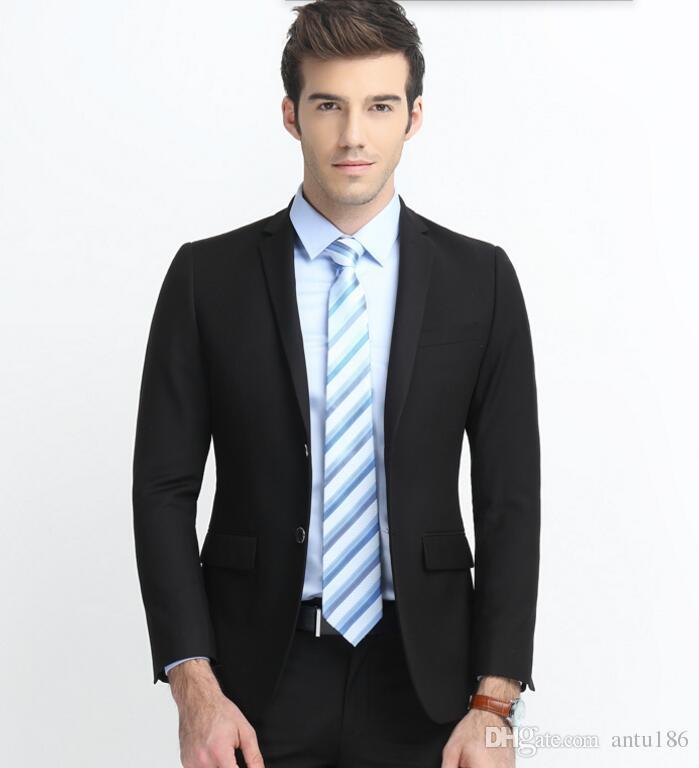 Özel yapılmış erkekler suit klasik erkekler düğün smokin kaliteli suits yaka tek göğüslü balo elbise smokin sağdıç takım ceket + pantolon