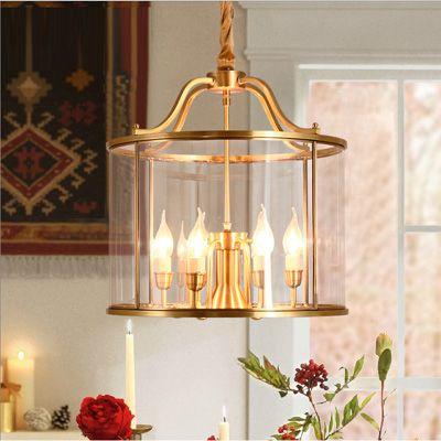 Home Vintage Chandelier Brass Lamp Copper Pendant Lamps Bedroom Lamp Jane  Beauty Restaurant Study Copper Corrugated Glass Lamp Pendant Light Home  Lights ...