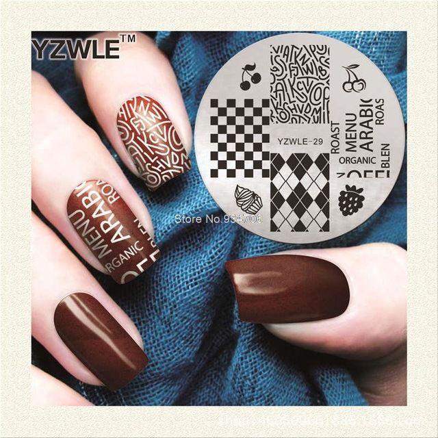 Wholesale Yzwle 29 Vintage Pattern Cherry Stamping Nail Art Image ...