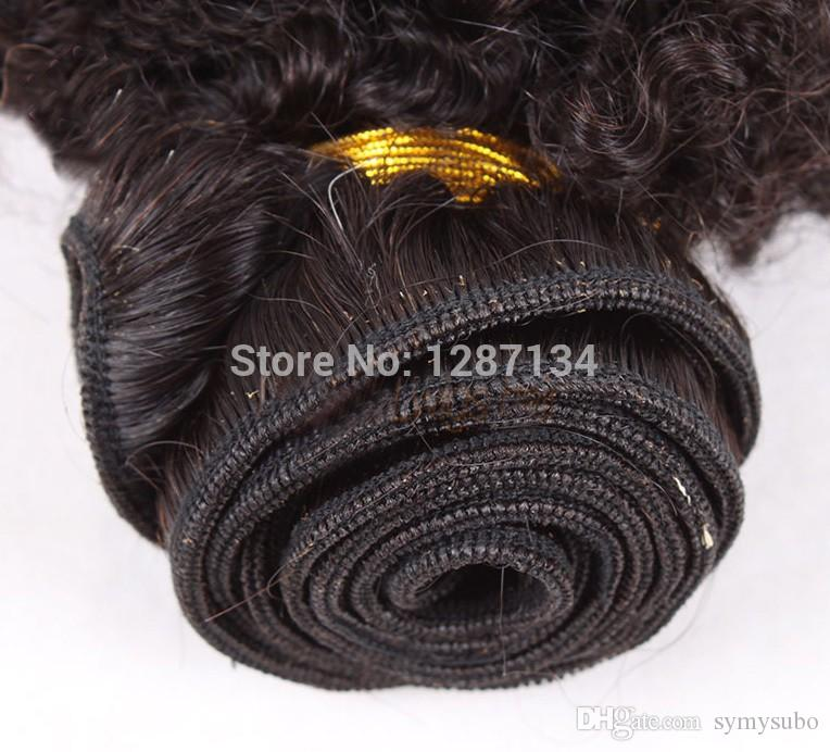 natural color hair weaves grade 5a+ unprocessed virgin brazilian afro kinky curly hair 100% human remy brazilian hair