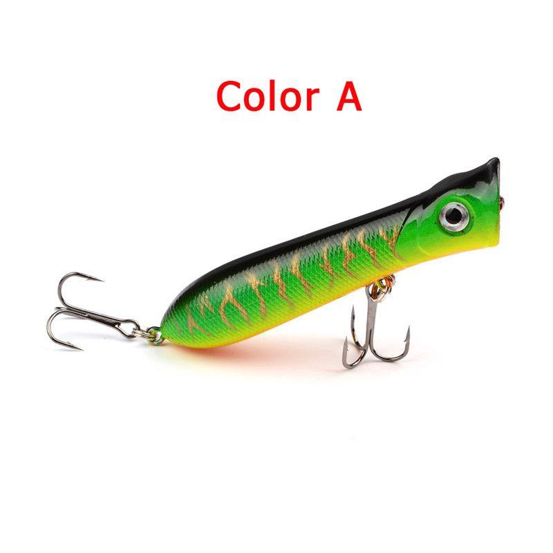 Оптовые рекламные цены Поппер искусственные приманки высокая доставленных рыболовные приманки 8 см 10.7 г ABS пластик попер жесткие приманки