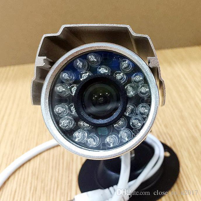 24LED 420TVL CMOS CCTV 카메라 3.6MM 렌즈 IR 밤 비전 방수 CCTV 보안 카메라 마운트 M12