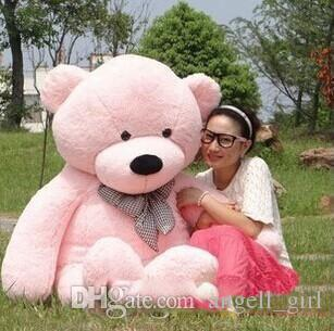 "New arrival 6.3 FEET TEDDY BEAR STUFFED LIGHT BROWN GIANT JUMBO 72"" 160cm birthday gift brown 5 colour choose"